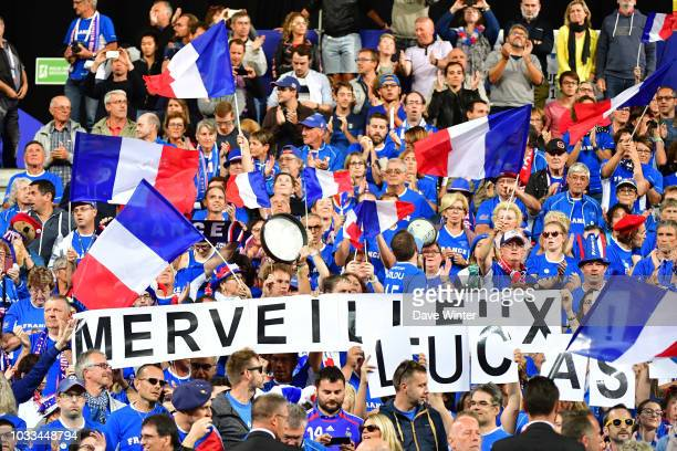 France fans encouraging Lucas Pouille of France during Day 1 of the Davis Cup semi final on September 14 2018 in Lille France