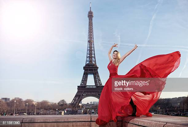 france fashion - skirt blowing stock photos and pictures