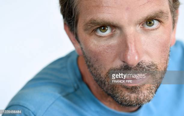 France Fed Cup Captain Julien Benneteau poses during a coaching workshop in Tignes French Alps on July 6 2020