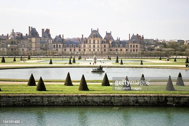 France Fontainebleau Palace Viewed From The Gardens