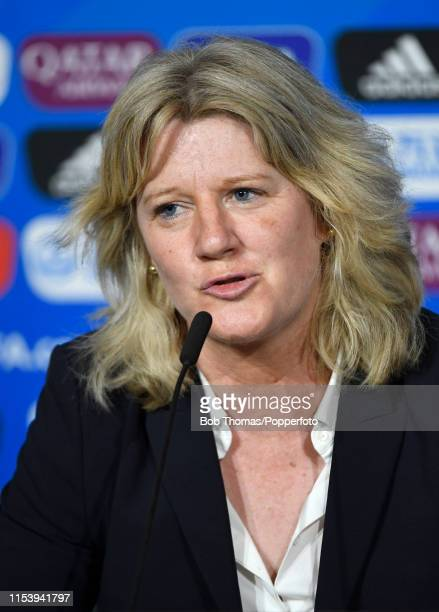 France Football Federation and Local Organizing Committee VicePresident Brigitte Henriques during the FIFA Women's World Cup France 2019 Closing...