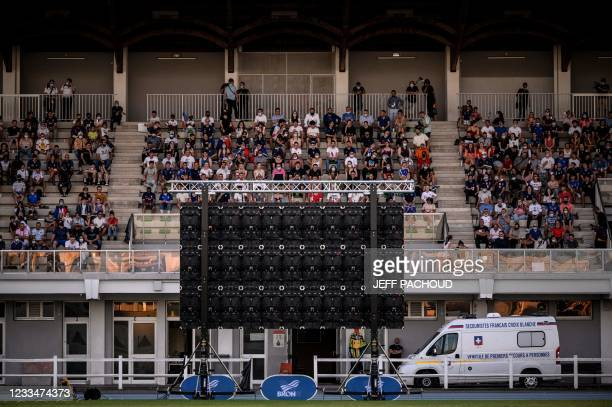 France football supporters watch the UEFA EURO 2020 Group F football match in Munich, between France and Germany, on June 15 at the Pierre Duboeuf...