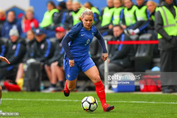 France forward Eugenie Le Sommer during the second half the SheBelieves Cup Womens Soccer game between the United States of America and France on...