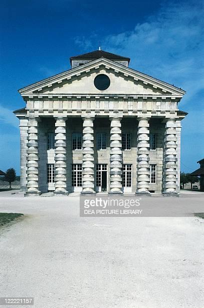 France - Franche-Comté. Royal Saltworks at Arc-et-Senans . UNESCO World Heritage List, 1982. Designer Architect Claude-Nicolas Ledoux. Director's...