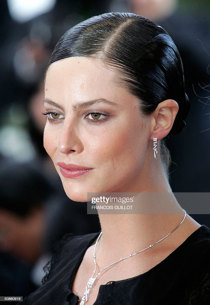 French actress Anna Mouglalis arrives for the official projection of Chinese director Wong Kar-Wai's '2046', 20 May 2004, at the 57th Cannes Film Festival. China's lone entry in the festival's official competition for the prestigious Palme D'Or is a poetic film that was five years in the making.