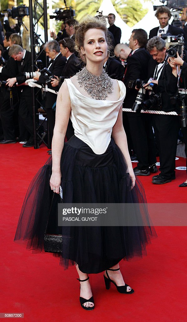 French actress Florence Darel arrives for the official screening of the film 'The Motorcycle Diaries', 19 May 2004, at the Cannes Film Festival in the French Riviera town. The film, which is in competition for the festival's coveted top prize, the Palme d'Or, tells the tale of Ernesto 'Che' Guevara and his Cuban traveling companion Alberto Granado's journey across Latin America fifty years ago.