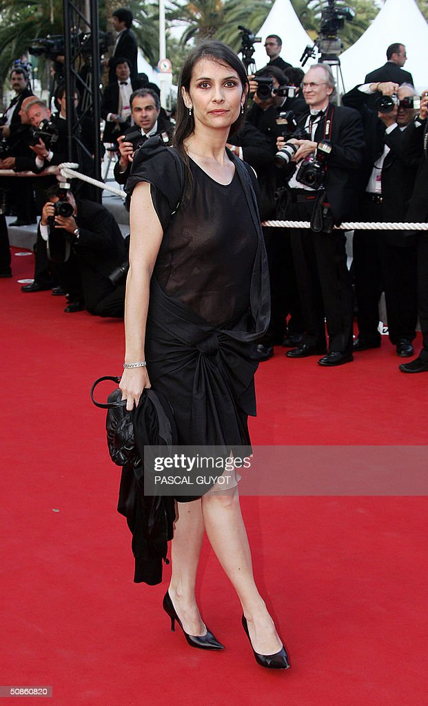 French actress Geraldine Pailhas arrives for the official projection of Chinese director Wong Kar-Wai's '2046', 20 May 2004, at the 57th Cannes Film Festival. China's lone entry in the festival's official competition for the prestigious Palme D'Or is a poetic film that was five years in the making.