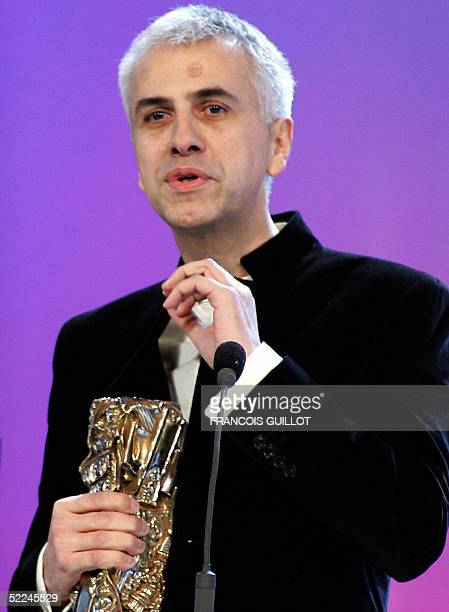 French componist Bruno Coulais speaks after receiving the Best soundtrack Award during the 30th Nuit des Cesar France's top movie awards 26 February...