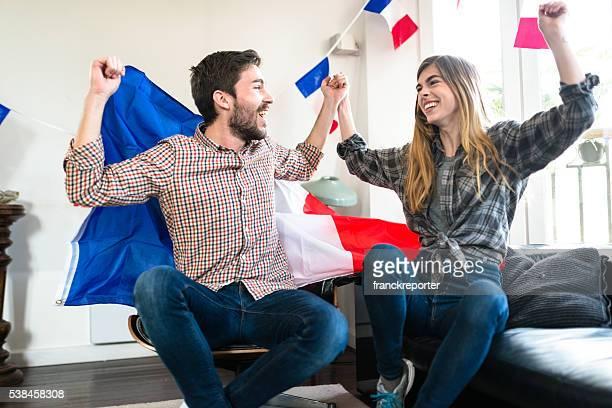 Francia amigos seguidores en su casa