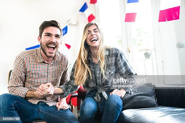 France amis supporters comme à la maison