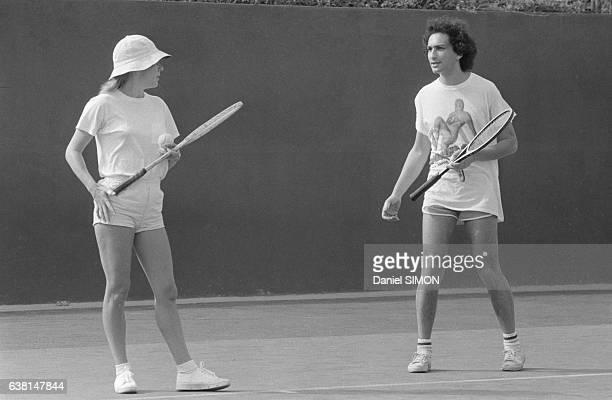 France Gall et Michel Berger lors des olympiades de la chanson organisées par Europe 1 à Dakar Sénégal du 10 au 14 décembre 1979