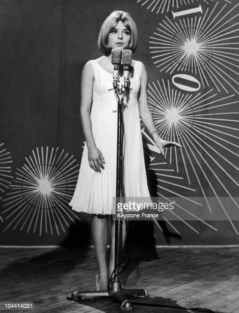 France GALL singing POUPEE DE CIRE POUPEE DE SON at the 10th Eurovision competition held in Naples Italy on March 20 1965 Representing Luxembourg she...