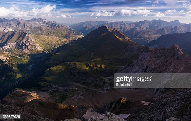 France, Gavarnie, Pailla Valley, Aerial view of Pyrenees