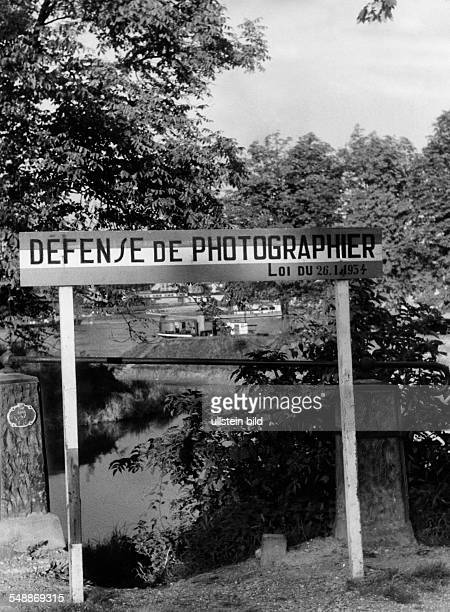 2WW france german occupation Prohibition to take photos of former french government near the state border between Strasbourg and Kehl August 1940 No...