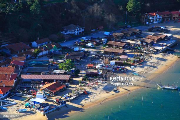 France, Gironde. Arcachon Bay. Village de lHerbe.