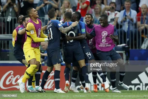 France goalkeeper Alphonse Areola Lucas Hernandez of France Kylian Mbappe of France Blaise Matuidi of France Thomas Lemar of France Presnel Kimpembe...