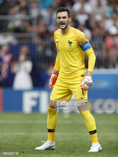 France goalkeeper Hugo Lloris during the 2018 FIFA World Cup Russia Final match between France and Croatia at the Luzhniki Stadium on July 15 2018 in...