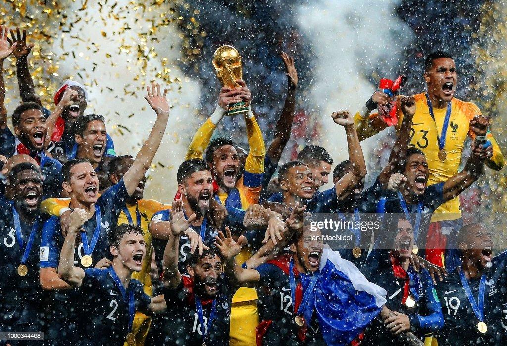 France v Croatia - 2018 FIFA World Cup Russia Final : Nyhetsfoto