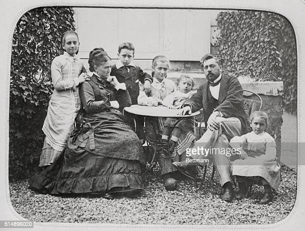 Gustave Eiffel engineer bridge builder and creator of the Eiffel Tower with his family His heirs still profit greatly from the income derived from...