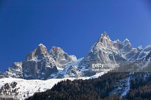 france, haute savoie, chamonix, mont blanc, winter - monte bianco foto e immagini stock