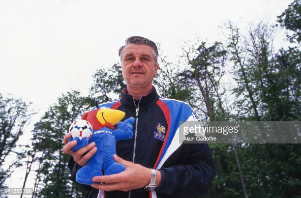 France head coach Aime Jacquet during the Soccer World Cup semi final match between France and Croatia on July 08th 1998 in Paris France