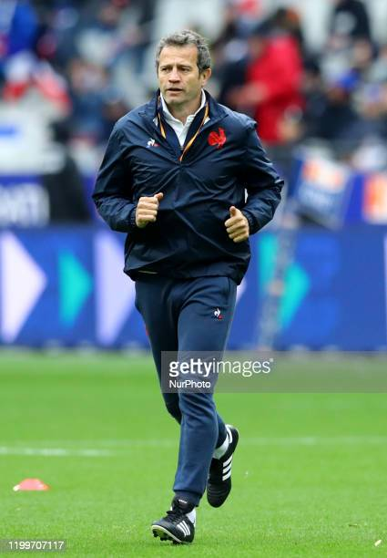 France head coach Fabien Galthie during the rugby Guinness 6 Nations match France v Italy at the Stade de France in Paris France on February 9 2020