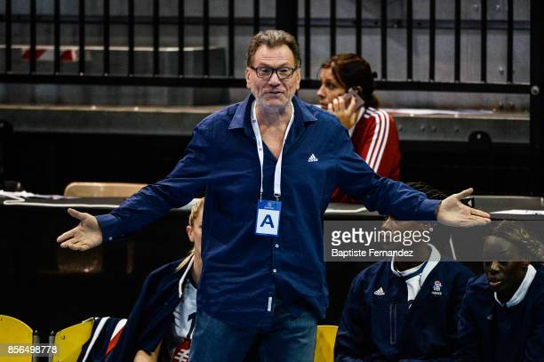 France head coach Olivier Krumbholz during the handball women's international friendly match between France and Brazil on October 1 2017 in...