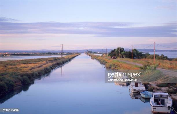 France, Herault, The canal du Midi and Bassin de Thau