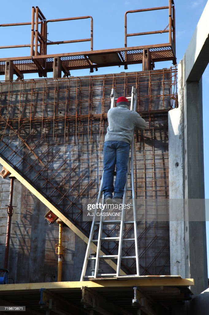 France House Building Raising The Houses Walls Safety On A ...