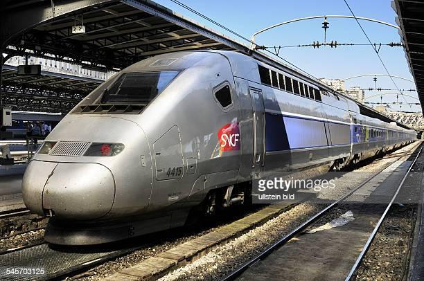 France Ile de France Paris A train type TGV 4415 of SNCF at the railway station 'Gare de l'Est'