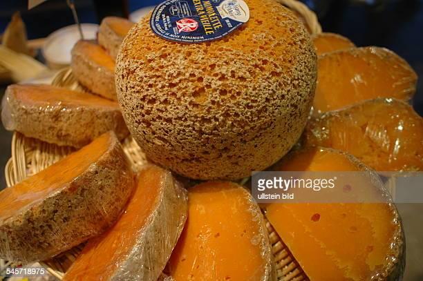 France Ile de France Paris Mimolette French ballshaped hard cheese made of cow milk