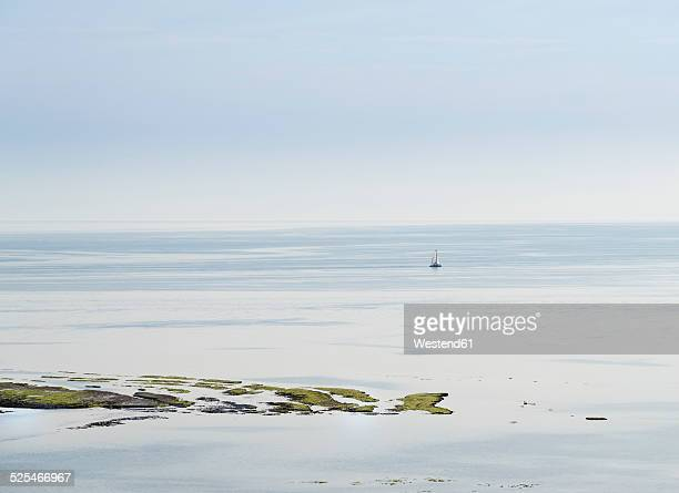 France, Ile de Re, Poitou-Charentes, Atlantic Ocean, Sailing boat