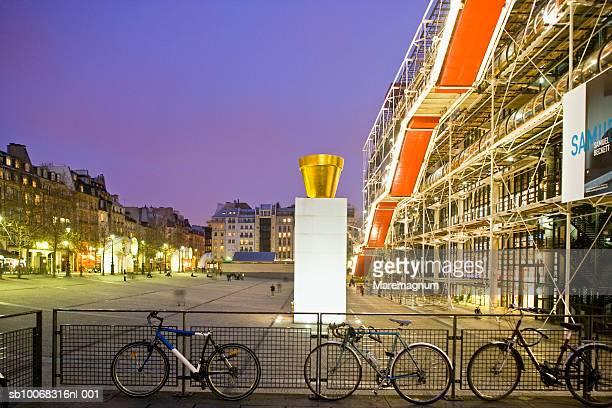 France, Ile-de-France, Paris, Beaubourg, Centre Pompidou at night