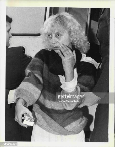 France Janine Villeneuve of Ceanebrook goes into Westmead Court today where she was charged with the murder of Leslie Geliger on May 20 June 30 1983