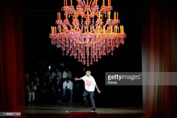 France – January 15: Atmosphere at Off-White show during Paris Fashion Week Men's at Carrousel Du Louvre on January 15, 2020 PARIS, France.