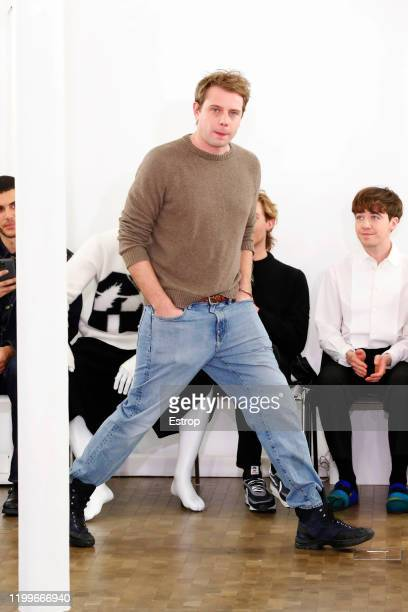 Fashion designer Jonathan Anderson y during the JW Anderson Menswear Fall/Winter 20202021 show as part of Paris Fashion Week on January 15 2020 in...