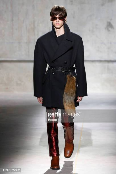 France – January 16: A model walks the runway during the Dries Van Noten Menswear Fall/Winter 2020-2021 show as part of Paris Fashion Week on January...