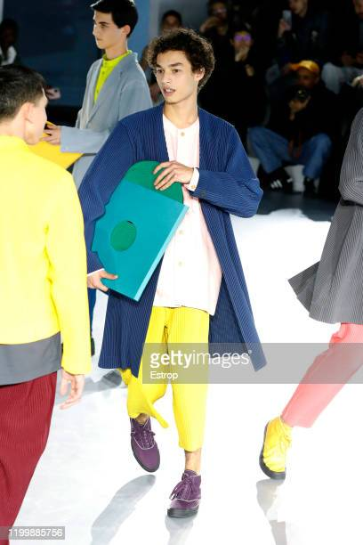 France – January 16: A model walks the runway during the Issey Miyake Men Menswear Fall/Winter 2020-2021 show as part of Paris Fashion Week on...
