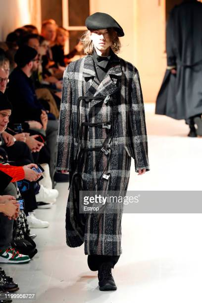 France – January 16: A model walks the runway during theYohji Yamamoto Menswear Fall/Winter 2020-2021 show as part of Paris Fashion Week on January...