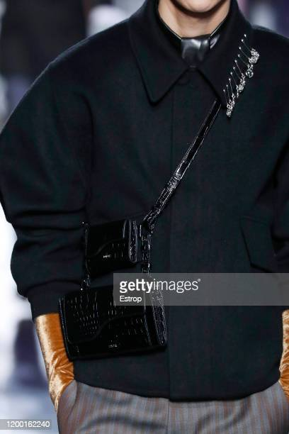 France – January 17: Bag detail during the Dior Homme Menswear Fall/Winter 2020-2021 show as part of Paris Fashion Week at Place de la Concorde on...