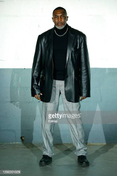 Boxer Mike Tyson during the Vetements Menswear Fall/Winter 20202021 show as part of Paris Fashion Week on at Garage Amelot January 17 2020 in Paris...