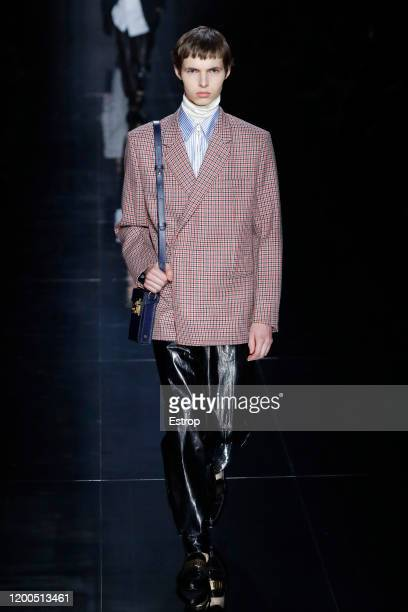 France – January 19: A model walks the runway during the Dunhill Menswear Fall/Winter 2020-2021 show as part of Paris Fashion Week on January 19,...