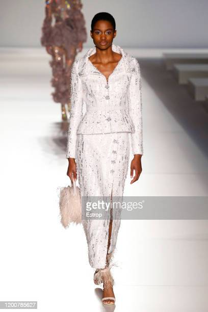 France – January 20: A model walks the runway during the Ralph & Russo Haute Couture Spring/Summer 2020 show as part of Paris Fashion Week on January...