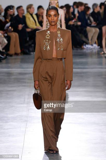 France – January 20: A model walks the runway during the Schiaparelli Haute Couture Spring/Summer 2020 show as part of Paris Fashion Week on January...