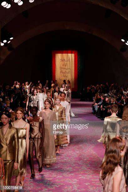France – January 20: Atmosphere during the Dior Haute Couture Spring/Summer 2020 show as part of Paris Fashion Week on January 17, 2020 in Paris,...
