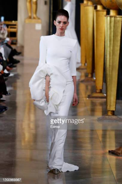 France – January 21: A model walks the runway during the Stephane Rolland Haute Couture Spring/Summer 2020 show as part of Paris Fashion Week on...