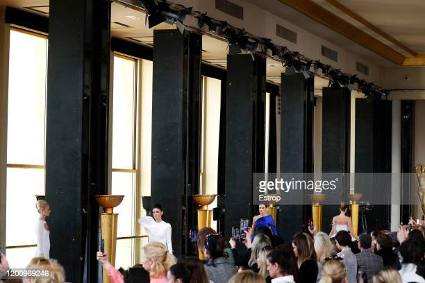 France – January 21: Atmosphere during the Stephane Rolland Haute Couture Spring/Summer 2020 show as part of Paris Fashion Week on January 21 at...