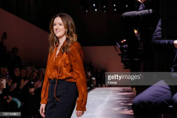 France – January 21: Fashion designer Clare Waight Keller during the Givenchy Haute Couture Spring/Summer 2020 show as part of Paris Fashion Week on...
