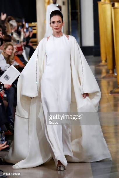 France – January 21: Nieves Alvarez walks the runway during the Stephane Rolland Haute Couture Spring/Summer 2020 show as part of Paris Fashion Week...