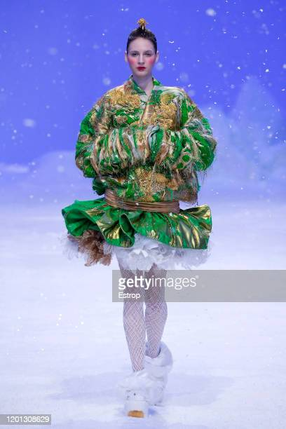 France – January 22: A model walks the runway during the Guo Pei Haute Couture Spring/Summer 2020 show as part of Paris Fashion Week on January 22,...